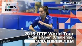 【動画】CIOBANU Irina VS GARNOVA Tatiana 2016年プレミアロトナイジェリアオープン 決勝
