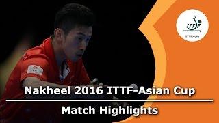 【動画】水谷隼 VS 黄鎮廷 2016年ITTFナキールアジアカップ 準々決勝