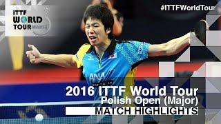 【動画】水谷隼 VS ドミトリ・オフチャロフ 2016年ポーランドオープン 決勝