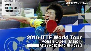【動画】水谷隼 VS 高木和卓 2016年ポーランドオープン 準々決勝