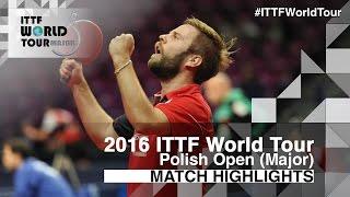 【動画】PERSSON Jon VS 白鶴 2016年ポーランドオープン ベスト32