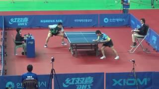 【動画】マツモト・カズオ VS 丹羽孝希 2016年韓国オープンベスト32