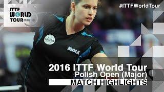 【動画】ペトリッサ・ゾルヤ VS KOMWONG Nanthana 2016年ポーランドオープン ベスト32