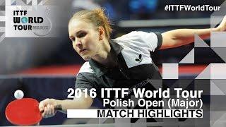【動画】田志希 VS プリワロワ 2016年ポーランドオープン ベスト32