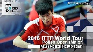 【動画】WANG Zhixu VS LI Hon Ming 2016年ポーランドオープン