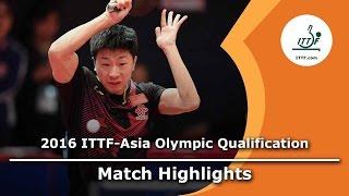 【動画】馬龍 VS 樊振東 2016年ITTFアジアオリンピック予選トーナメント 決勝