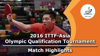 【動画】樊振東 VS 荘智淵 2016年ITTFアジアオリンピック予選トーナメント 準決勝