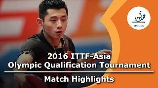【動画】張継科 VS 馬龍 2016年ITTFアジアオリンピック予選トーナメント 準決勝