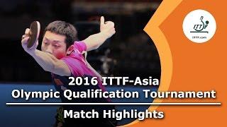 【動画】李尚洙 VS 許昕 2016年ITTFアジアオリンピック予選トーナメント ベスト16