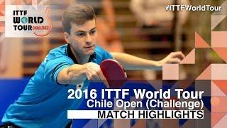 【動画】HACHARD Antoine VS ALTO Gaston 2016年チリオープン 決勝