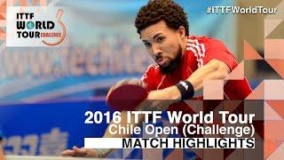 【動画】HACHARD Antoine VS PEREIRA Andy 2016年チリオープン 準々決勝