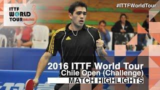 【動画】ALTO Gaston VS RODRIGUEZ Alejandro 2016年チリオープン 準々決勝