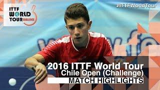 【動画】SCHREINER Florian VS TOLOSA Santiago 2016年チリオープン 準々決勝