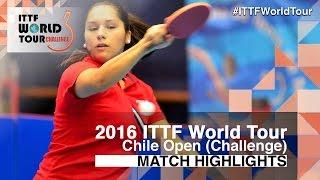 【動画】ORTEGA Daniela VS MORALES Judith 2016年チリオープン