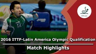 【動画】TSUBOI Gustavo VS AGUIRRE Marcelo 2016年ITTF  - ラテンアメリカのオリンピック予選トーナメント 決勝