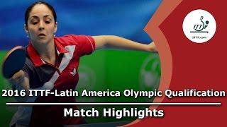 【動画】LOW Katherine VS SILVA Yadira 2016年ITTF  - ラテンアメリカのオリンピック予選トーナメント 準決勝