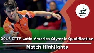 【動画】LAMADRID Juan VS AFANADOR Brian 2016年ITTF  - ラテンアメリカのオリンピック予選トーナメント 準決勝