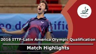 【動画】MADRID Marcos VS TSUBOI Gustavo 2016年ITTF  - ラテンアメリカのオリンピック予選トーナメント 準決勝