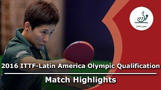 【動画】SILVA Yadira VS KUMAHARA Caroline 2016年ITTF  - ラテンアメリカのオリンピック予選トーナメント 準決勝