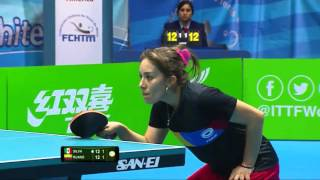 【動画】SILVA Yadira VS RUANO Lady 2016年ITTF  - ラテンアメリカのオリンピック予選トーナメント 準決勝