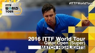 【動画】シバエフ VS ブラディミル・サムソノフ 2016年カタールオープン ベスト16