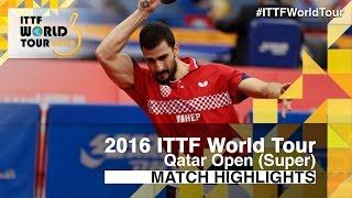 【動画】ガシナ VS 張継科 2016年カタールオープン ベスト16