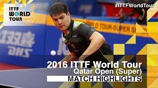 【動画】ディヤス・ヤコブ VS ドミトリ・オフチャロフ 2016年カタールオープン ベスト16