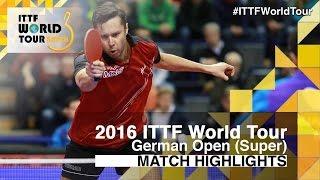【動画】荘智淵 VS ブラディミル・サムソノフ 2016年ドイツオープン 準決勝