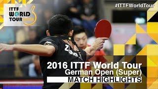 【動画】張継科 VS 馬龍 2016年ドイツオープン 準決勝