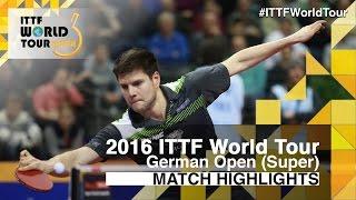 【動画】荘智淵 VS ドミトリ・オフチャロフ 2016年ドイツオープン 準々決勝