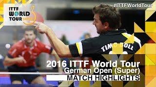 【動画】ガシナ VS ティモ・ボル 2016年ドイツオープン ベスト16