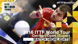 【動画】KOJIC Frane VS ティモ・ボル 2016年ドイツオープン ベスト32
