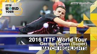 【動画】ティアゴ・アポロニア VS ブラディミル・サムソノフ 2016年ドイツオープン ベスト32