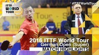 【動画】パナギオティス・ギオニス VS 張継科 2016年ドイツオープン ベスト32