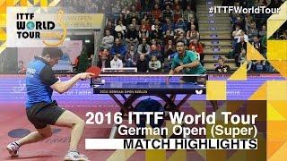 【動画】アサール VS ドミトリ・オフチャロフ 2016年ドイツオープン ベスト32