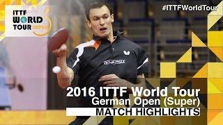 【動画】ステファン・フェゲル VS 丹羽孝希 2016年ドイツオープン ベスト32
