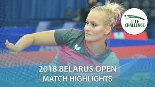 【動画】バラージョバー VS 芝田沙季 2018 ITTFチャレンジ ベラルーシオープン 準々決勝