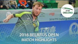 【動画】DEVOS Robin VS THAKKAR Manav Vikash 2018 ITTFチャレンジ ベラルーシオープン ベスト32