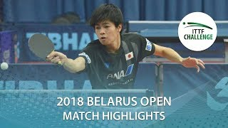 【動画】田中悠太 VS SALEH Ahmed 2018 ITTFチャレンジ ベラルーシオープン ベスト64