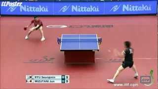 【動画】柳承敏 VS 水谷隼 P 2012 ジャパンオープン準々決勝