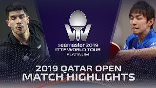 【動画】丹羽孝希 VS パトリック・フランチスカ 2019 プラチナカタールオープン ベスト16