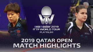 【動画】王芸迪 VS ペトリッサ・ゾルヤ 2019 プラチナカタールオープン ベスト32