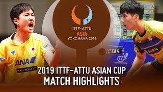 【動画】張本智和 VS 李尚洙 2019 ITTF-ATTUアジアカップ 準々決勝