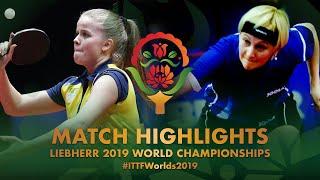 【動画】BERGAND Filippa VS KLIMANOVA Natalija 2019 世界選手権