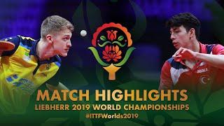 【動画】アントン・カールバーグ VS YIGENLER Abdullah 2019 世界選手権