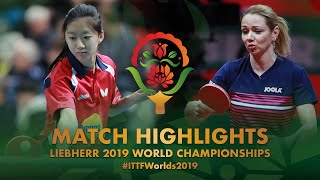 【動画】WANG Amy VS ルタ・パスカウスキエネ 2019 世界選手権