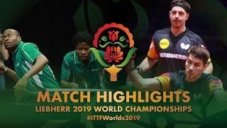 【動画】アルナ・OMOTAYO Olajide VS ティモ・ボル・パトリック・フランチスカ 2019 世界選手権 ベスト64