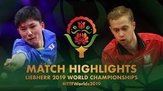 【動画】バドフスキ VS 張本智和 2019 世界選手権 ベスト128