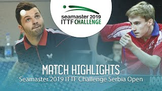 【動画】ROLLAND Jules VS LUPULESKU Lorencio ITTFチャレンジ・セルビアオープン