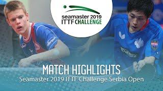 【動画】坪井勇磨 VS TEPIC Pero ITTFチャレンジ・セルビアオープン